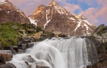 Waterfall Near Lake Oesa - Yoho National Park - Canada