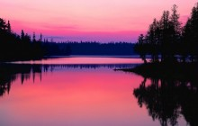 Sunrise Over Bisk Lake - Ontario - Canada