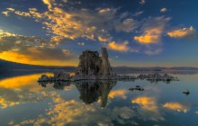 Mono Lake at Sunset HD wallpaper - California