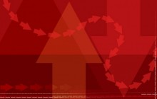 Falu red wallpaper - Red