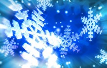 Glowing snowflakes wallpaper