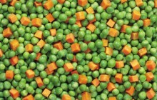 Green peas and carrots HD