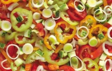 Salad with bell pepper