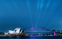 Sydney Opera House and Harbour Bridge at Dusk - Australia