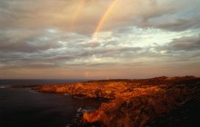 Rainbows at Sunset Over Cape du Couedic - Australia