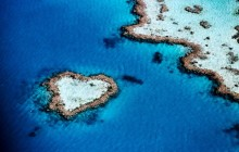 Aerial of Heart-Shaped Reef - Hardy Reef - Australia