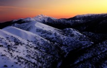 First Light on Mount Feathertop - Australia