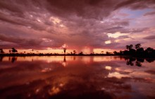 Storm Clouds Over a Watering Hole - Botswana