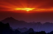 Huangshan at Sunset - China