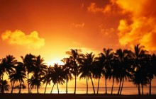 Aitutaki Island at Sunset HD wallpaper - Cook Islands