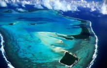 Aerial View of Aitutaki Island - Cook Islands