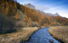 Claree Valley in Autumn - Hautes-Alpes - France