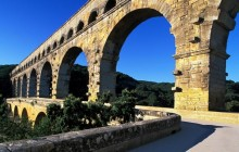 Historic Pont du Gard - Gard River - France