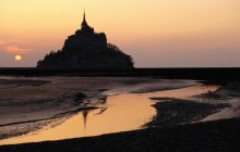 Mont Saint Michel at Sunset - Normandy - France