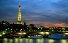 Eiffel Tower and the Seine River at Night - Paris - Paris