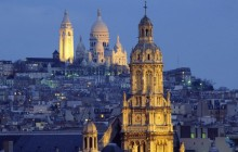 The Sacred-Heart Basilica in the Distance - Montmartre - Paris
