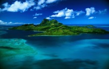 Aerial View of Bora Bora HD wallpaper - French Polynesia