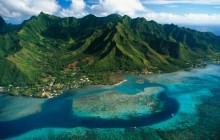 Aerial View of Moorea Island - French Polynesia