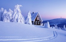 Snow-Covered Ore Mountains - Saxony - Germany