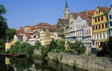 Neckar River and Town View - Tubingen - Germany