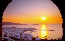 The Cyclades Islands at Sundown - Greece