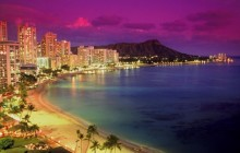 Waikiki at Dusk - Hawaii - Hawaii