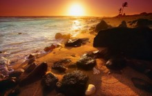Shoreline Sunset - Hawaii - Hawaii
