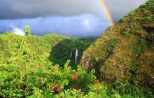 Rainbow Over Opaeka'a Falls - Kauai - Hawaii