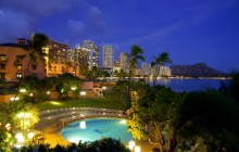 Waikiki at Night - Oahu - Hawaii