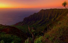 The Kalalau Valley at Sunset - Hawaii