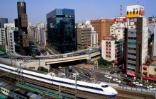Bullet Train - Ginza District - Tokyo