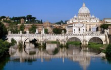 The Vatican Seen Past the Tiber River - Rome