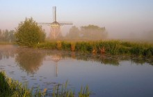 Windmill on the River Gein in Early Morning - Abcoude - Netherlands