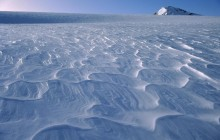 Wind Waves on Snow - Garden of Eden - Southern Alps - New Zealand
