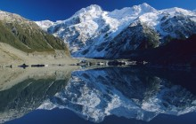 Mount Sefton Reflected in Mueller Glacier Lake - New Zealand