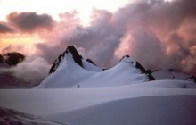 Sunset on the Fox Glacier Alps - New Zealand