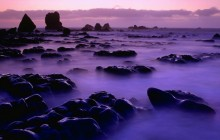 Rising Tide at Sunset - South Island - New Zealand
