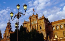 Plaza de Espana at Sunset - Seville - Spain