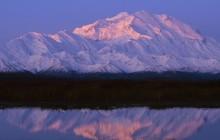 Denali Reflected at Sunset - Alaska