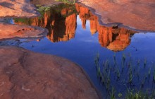 Reflection of Cathedral Rock at Red Rock Crossing - Arizona