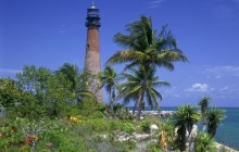 Cape Florida Lighthouse - Key Biscayne Coastline - Miami - Florida