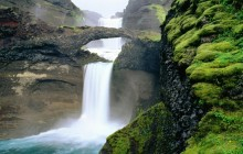 Scenic Waterfall - Iceland