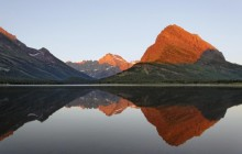 Mountain Reflection at Sunrise - Glacier National Park - Montana