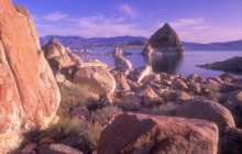 Rocky Shores of Pyramid Lake - Nevada