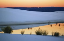 Dunes at Sunset - White Sands National Monument - New Mexico