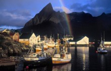 Hamnoy Rainbow - Sakrisoy Island - Lofoten Islands - Norway