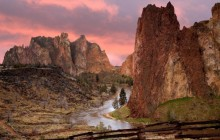 Smith Rock State Park at sunset - Oregon