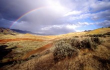 Rainbow Over the Painted Hills - John Day Fossil - Oregon