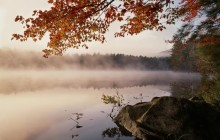 Foggy Sunrise Light on Crane Pond - New York