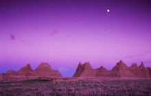 Badlands National Park at Dusk - South Dakota